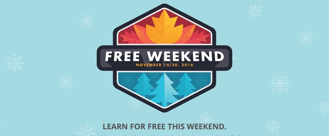 Free Weekend na CodeSchool