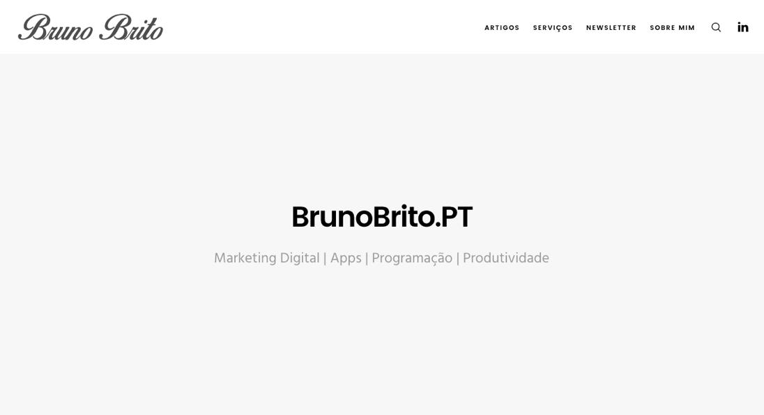 Novo BrunoBrito.PT