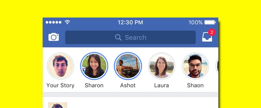 Olá Facebook Stories