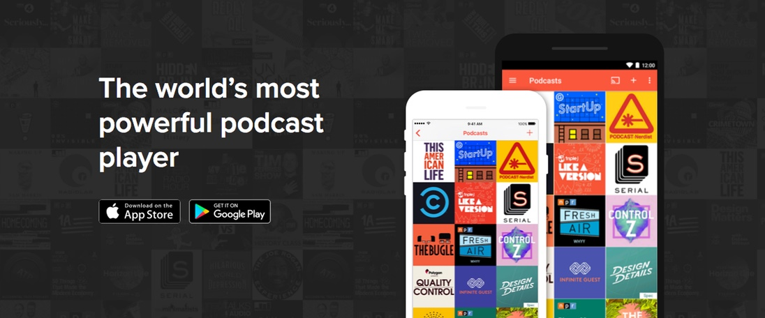 Pocket Casts (iOS / Android / Web)
