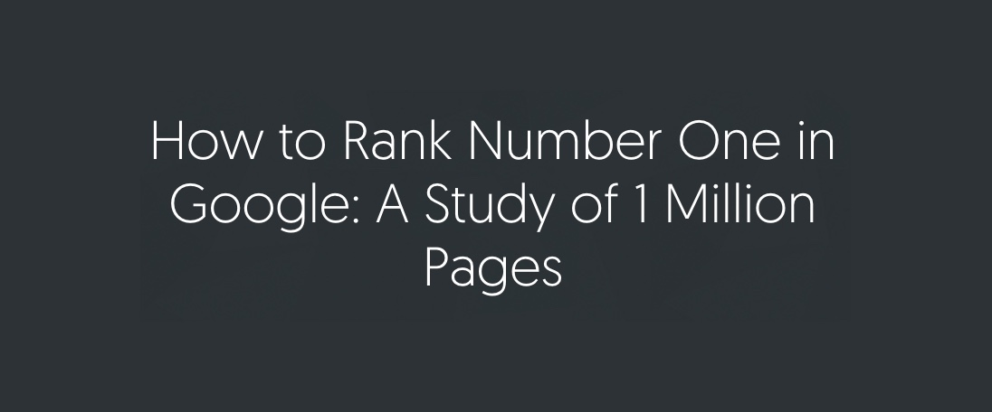 Como chegar a #1 no Google