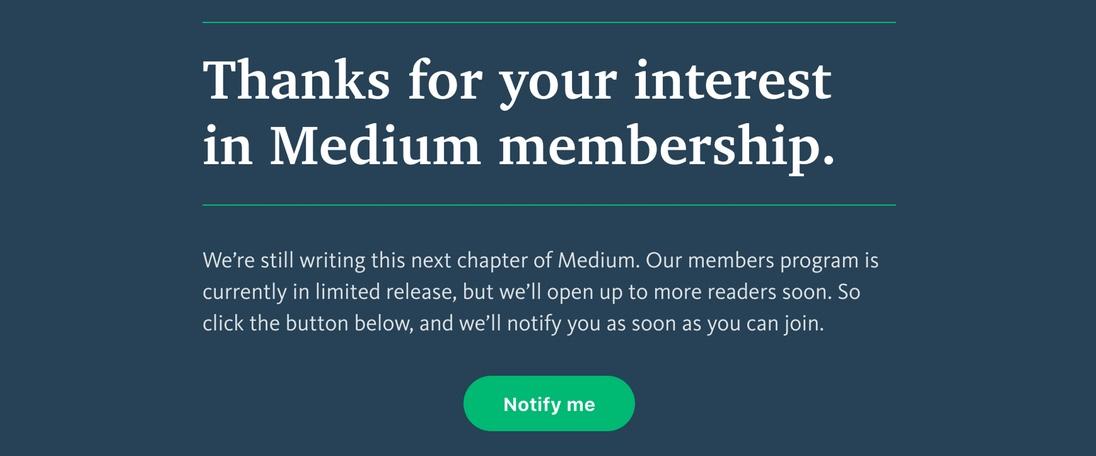 Medium Membership