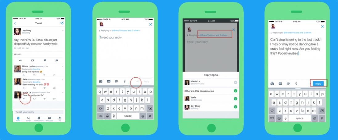 Twitter: novas regras para replies