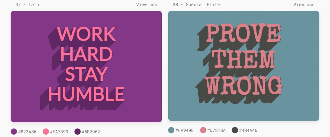 Trendy CSS Text Shadows by MIXFONT
