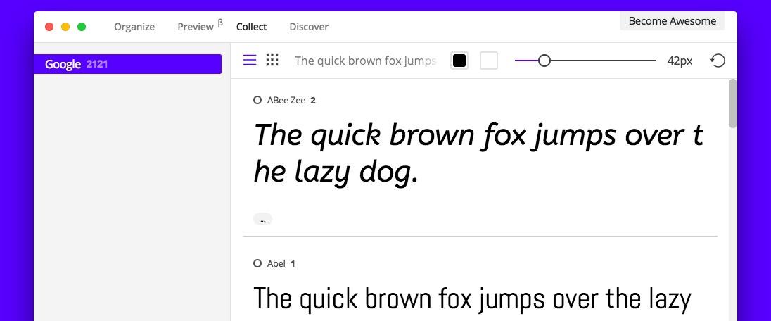 FontBase (Windows, macOS, Linux)