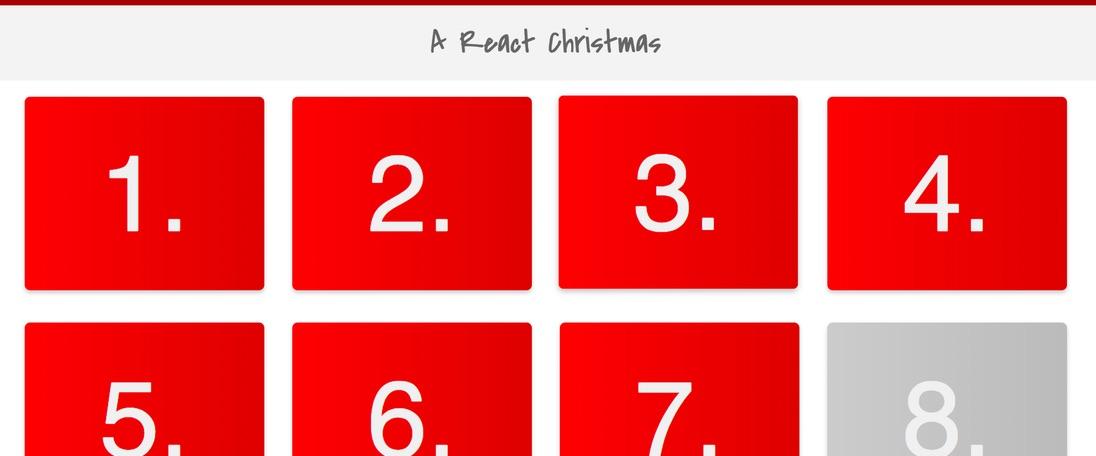 A React Christmas