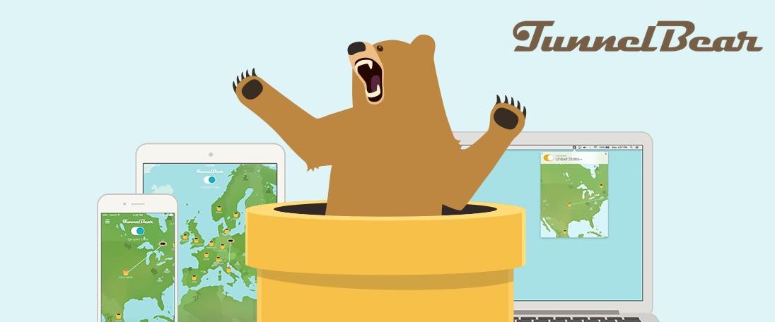 TunnelBear (Windows, macOS, Android, iOS)