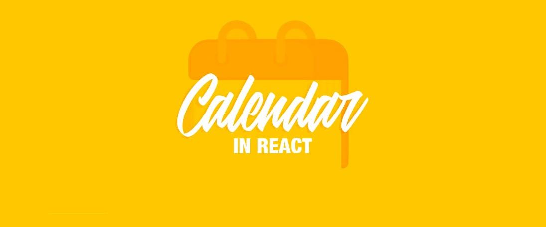Create a custom calendar in React