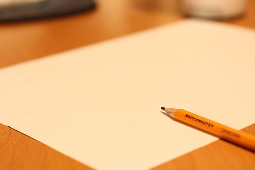 Folha de papel vazia