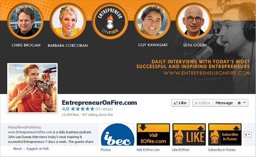 Entrepreneur On Fire no Facebook