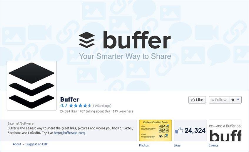 Buffer no Facebook