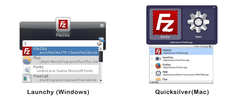Launchy e Quicksilver