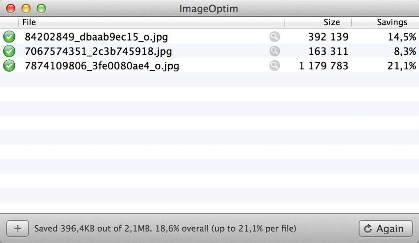 O ImageOptim para Mac