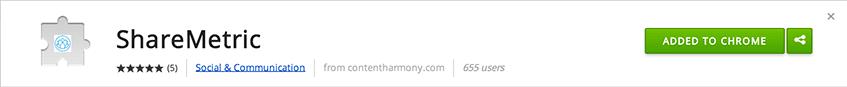 ShareMetric na Chrome Web Store