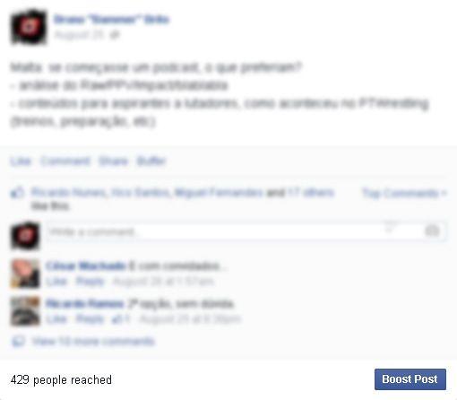 O destaque dado pelo Facebook ao reach