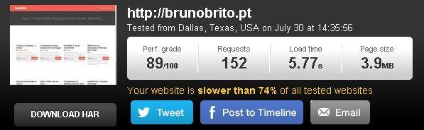 BrunoBrito.PT no Pingdom