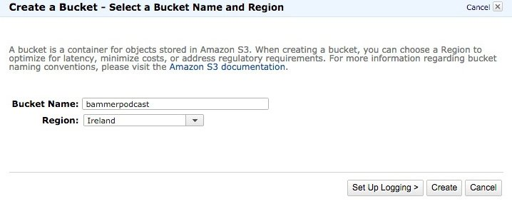 Criar um Bucket na Amazon S3