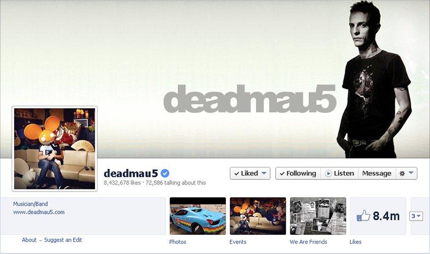 deadmau5 no Facebook