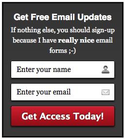 Um divertido formulário para *sign-up*