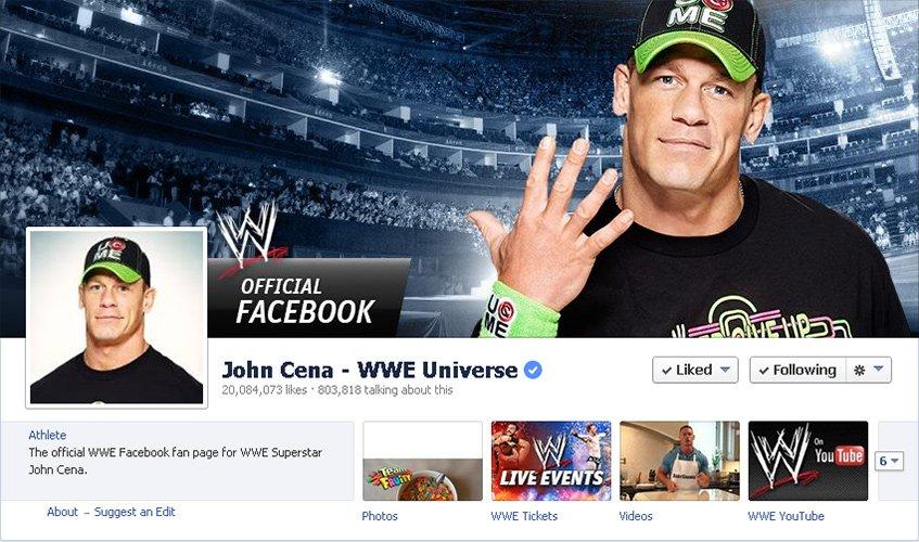 John Cena no Facebook