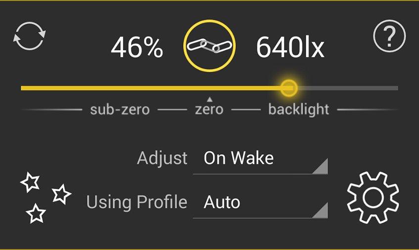 Calibrar o brilho é uma das principais vantagens do Lux