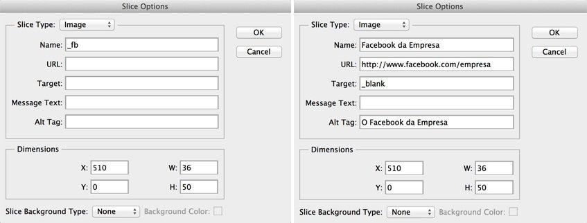 Photoshop slice com text expansion