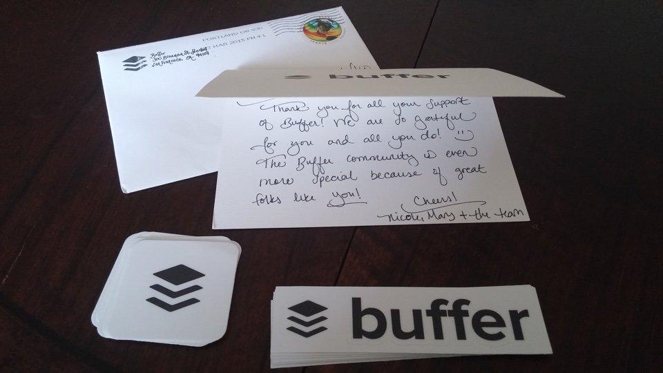 Envelope Buffer e autocolantes