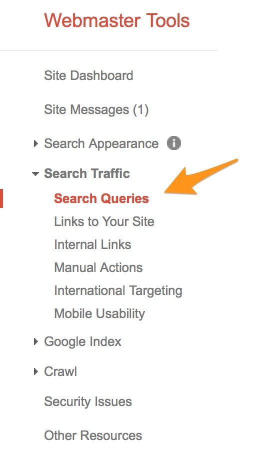 Google Webmaster Tools - Search Traffic