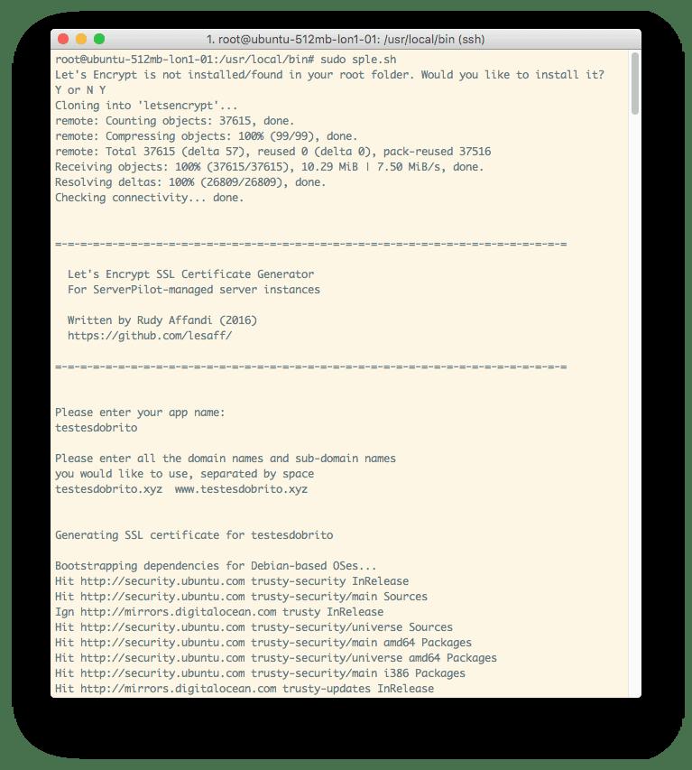Execução do script HTTPS