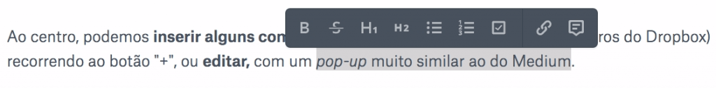 Dropbox Paper - Editar