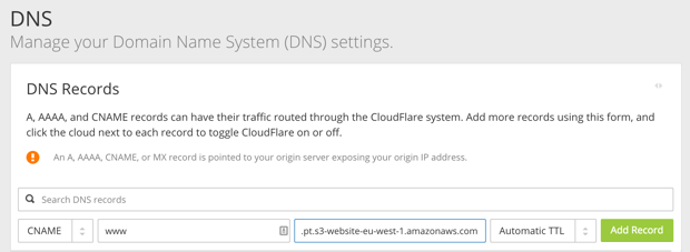 Cloudflare - DNS