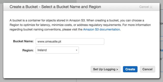 Amazon S3 - Create a Bucket