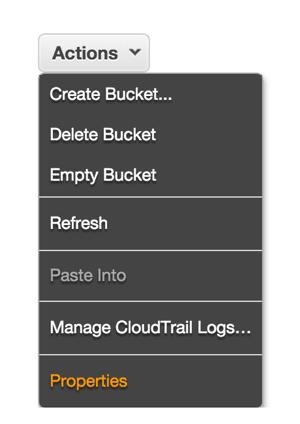 Amazon S3 - Bucket Properties