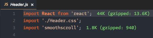 Import Cost para VS Code