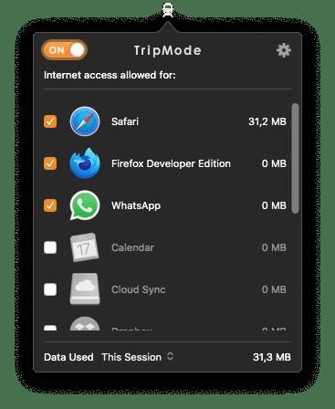 TripMode para macOS