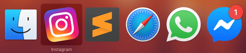 Web apps no Flotato com cmd+tab