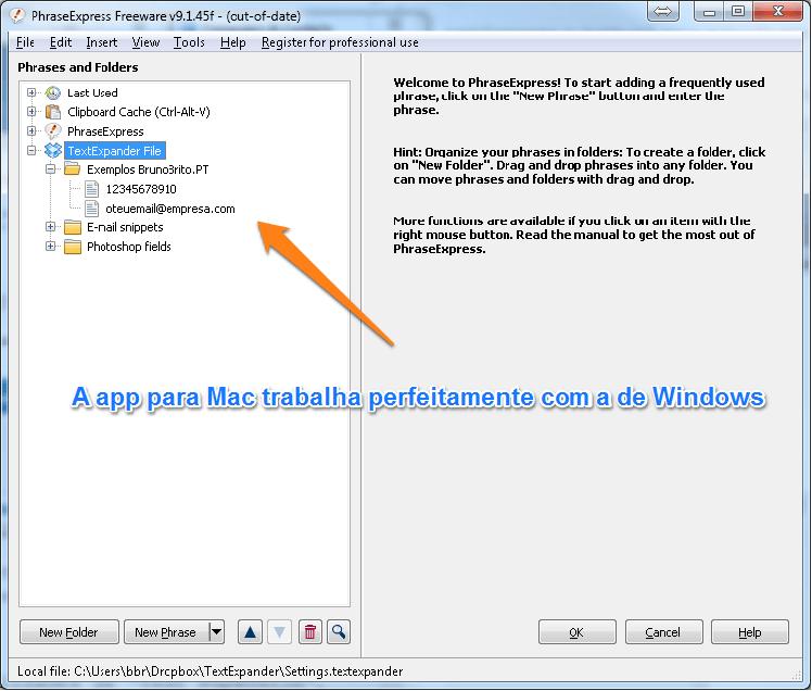 A sincronização entre as 2 apps facilita a transição de Mac para PC