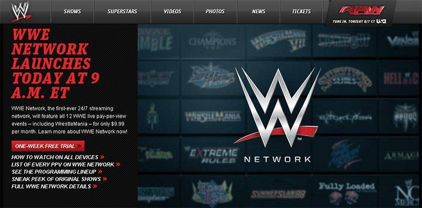A WWE Network no dia de lançamento