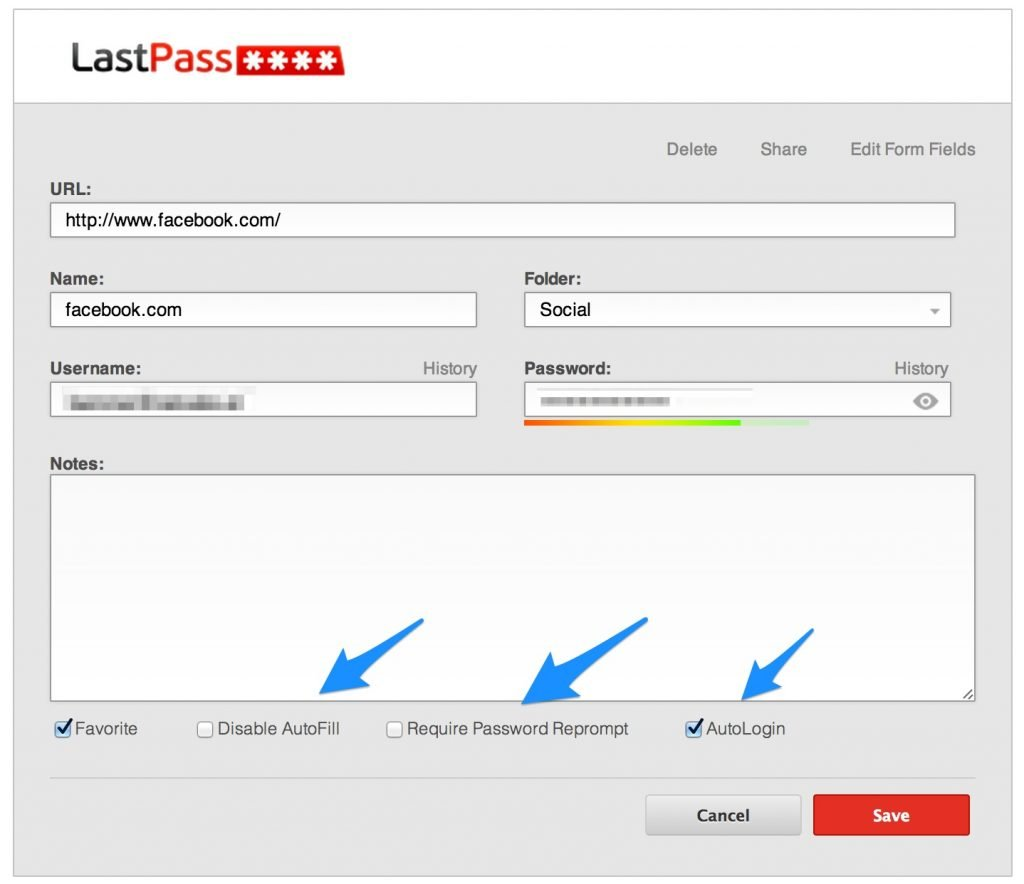 As várias possibilidades de login do LastPass