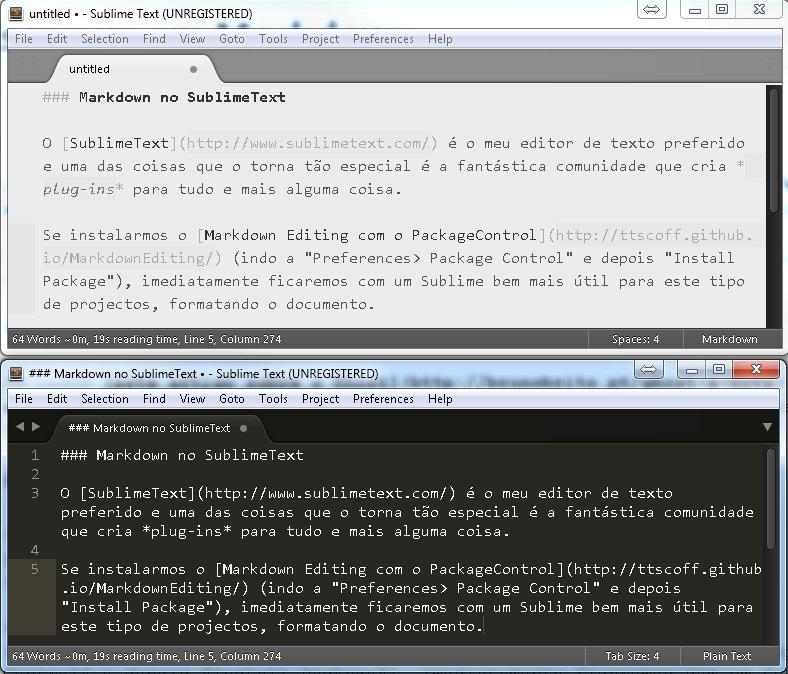 MarkdownEditing para SublimeText