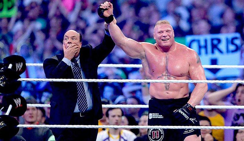 Heyman chocado com a vitória de Lesnar sobre Undertaker
