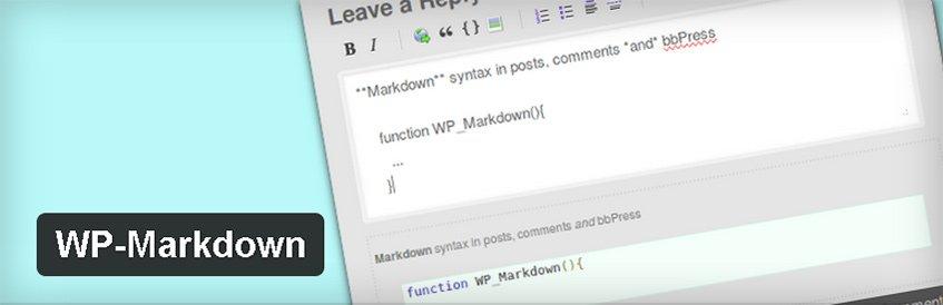 WP-Markdown