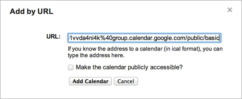 """Add by URL"" no Google Calendar (passo 2)"