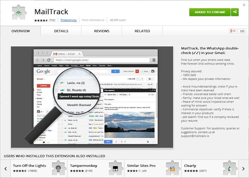 MailTrack na Chrome Web Store
