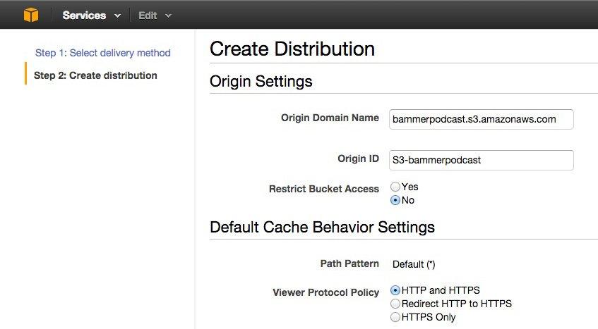 Criar uma distribuição no CloudFront