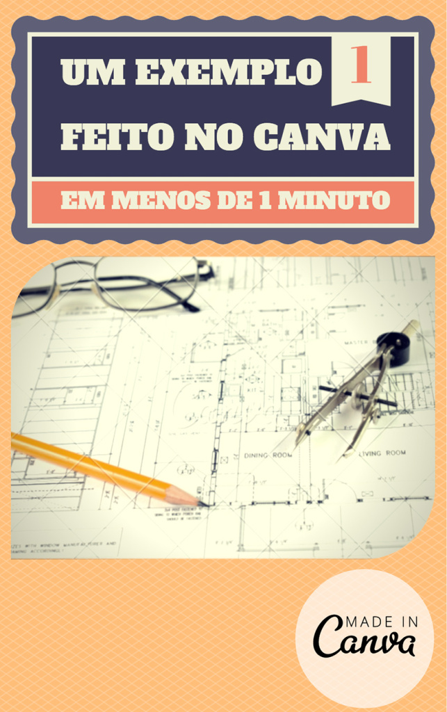 O projecto final feito no Canva