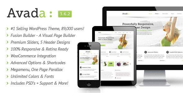 Avada, o tema premium mais popular para WordPress