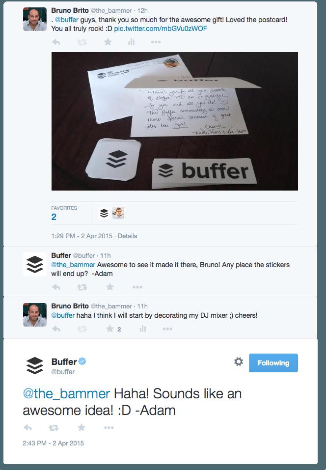 Buffer - conversa follow-up