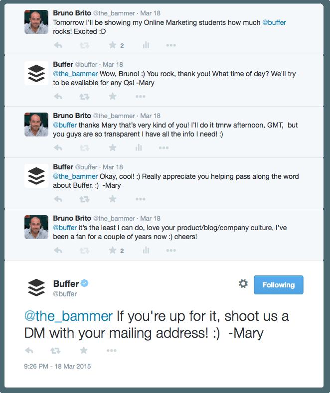 Buffer - conversa original