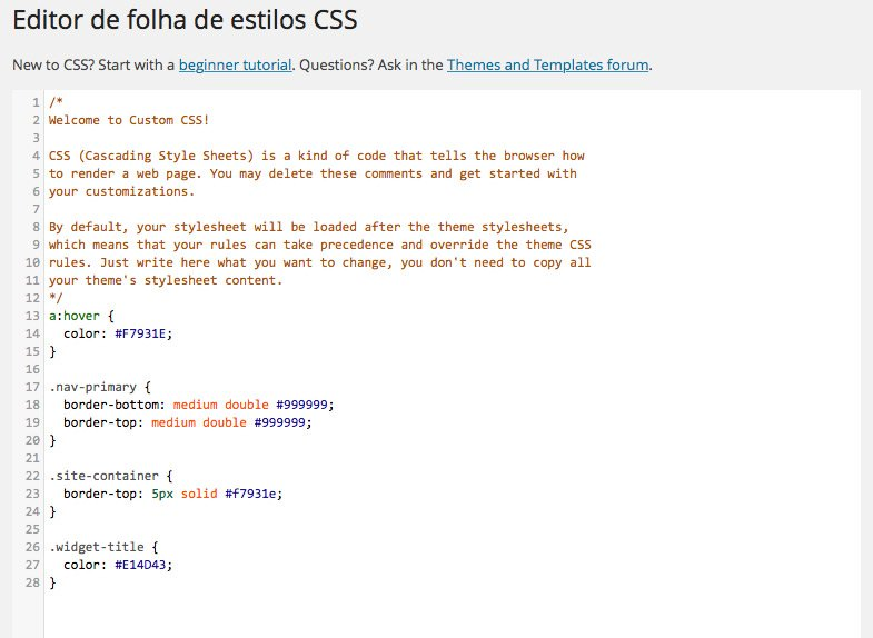 Custom CSS no Jetpack